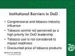 institutional barriers in dod