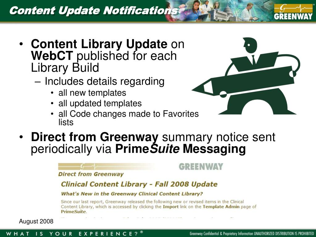 Content Update Notifications