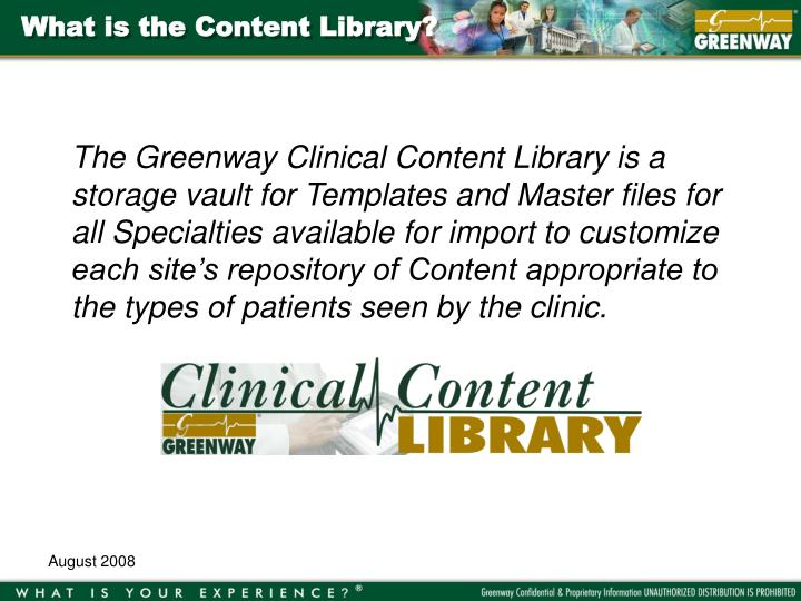 What is the content library