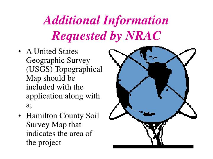 Additional Information Requested by NRAC
