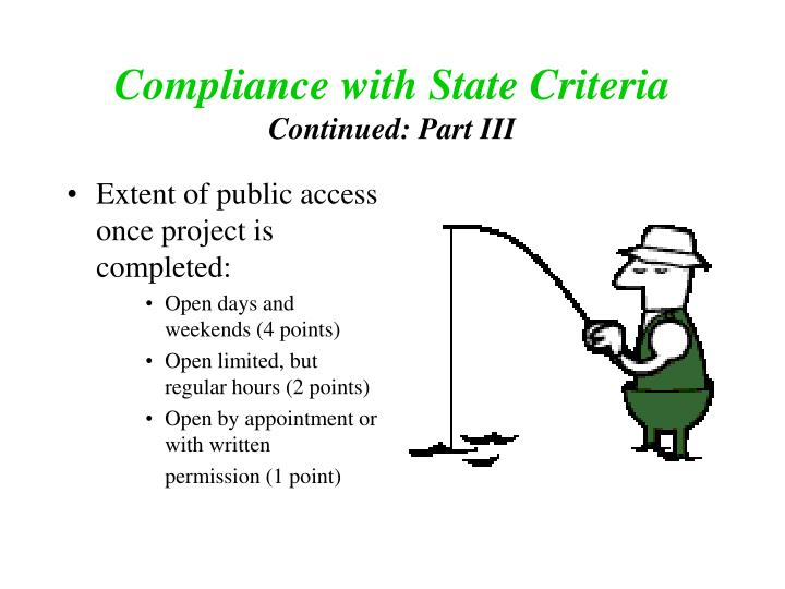 Compliance with State Criteria