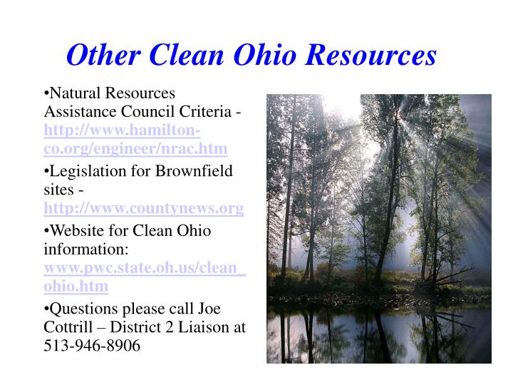 Other Clean Ohio Resources