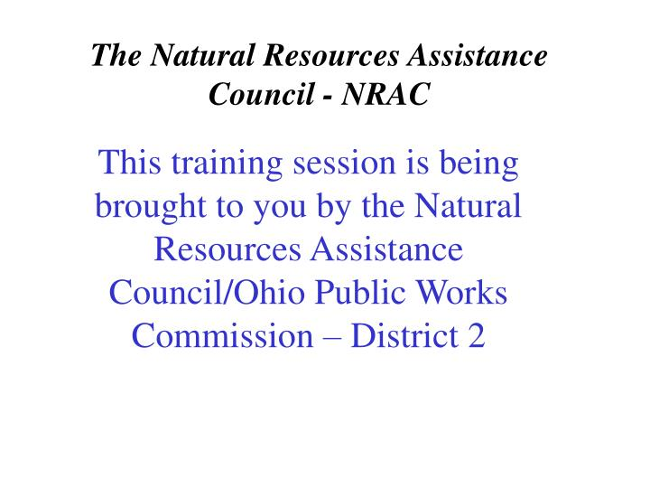 The natural resources assistance council nrac