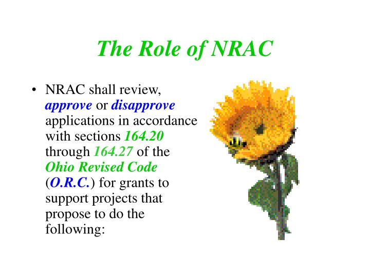 The Role of NRAC