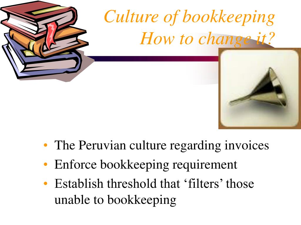 Culture of bookkeeping