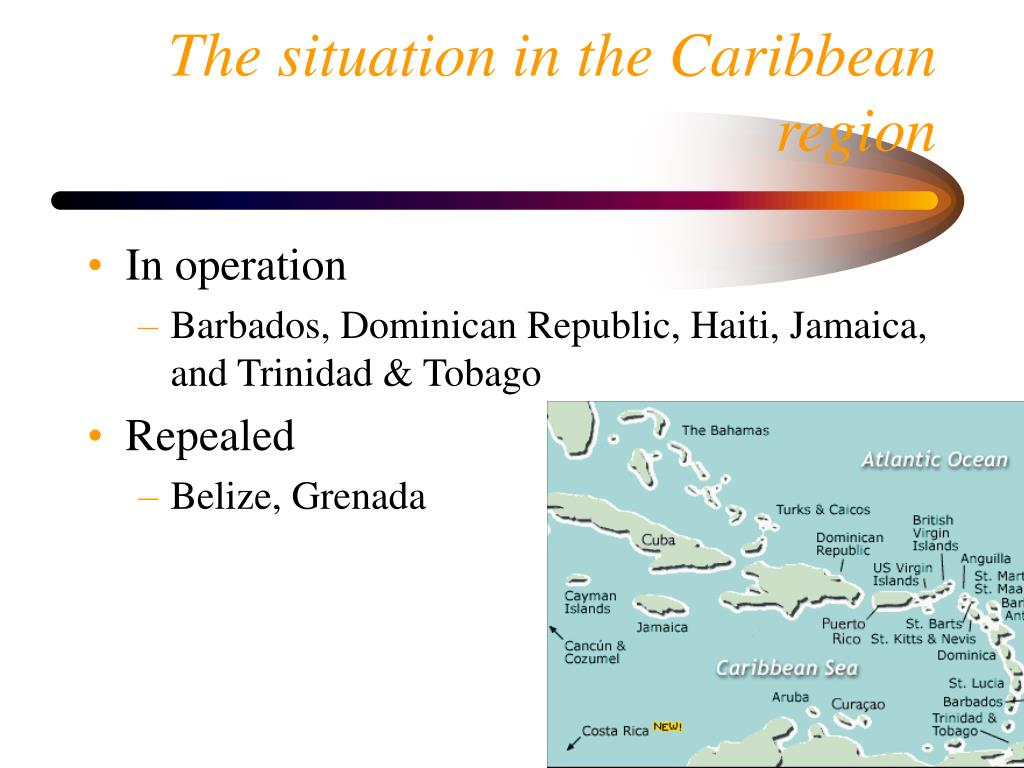 The situation in the Caribbean region