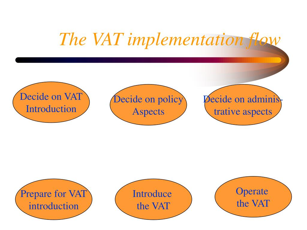 The VAT implementation flow