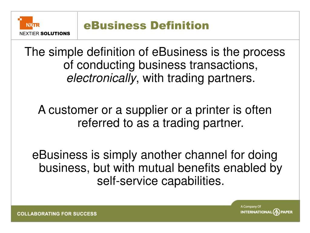 eBusiness Definition