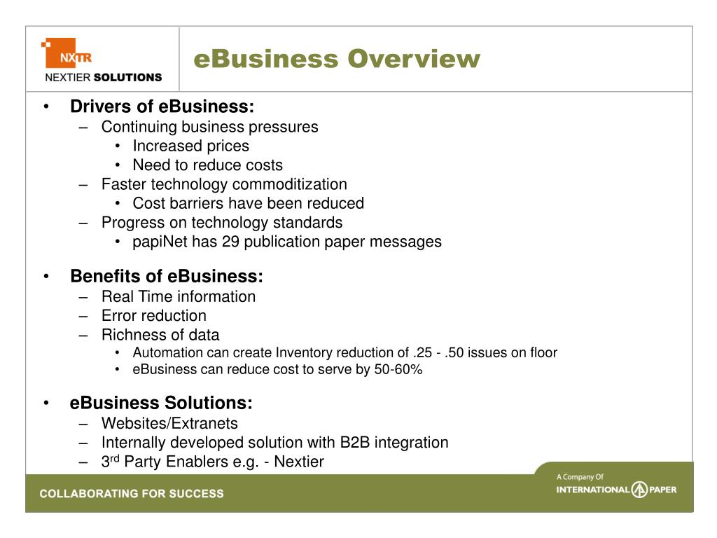 eBusiness Overview