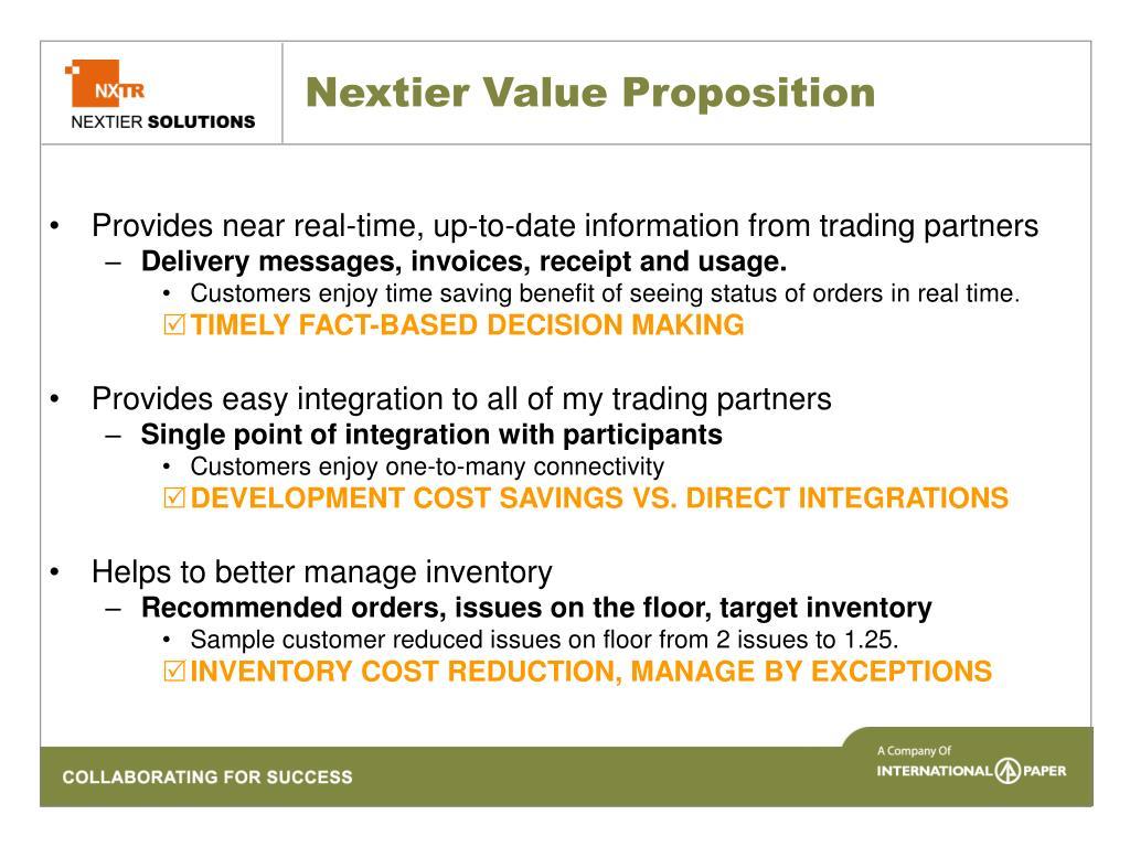 Nextier Value Proposition