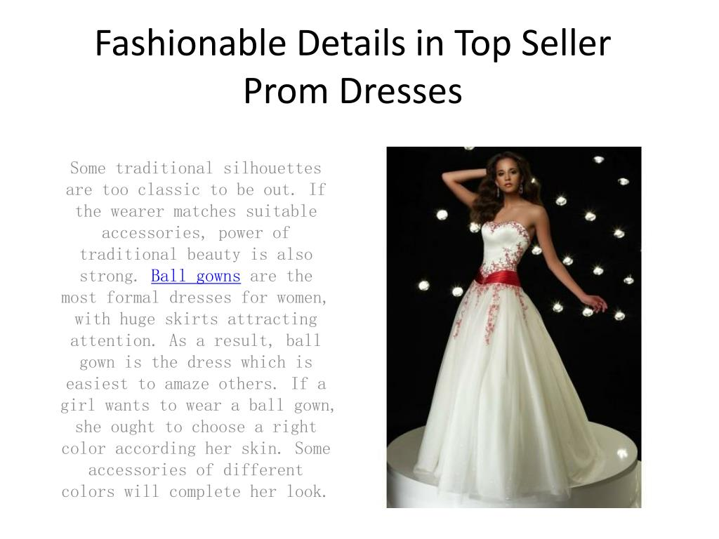 fashionable details in top seller prom dresses l.