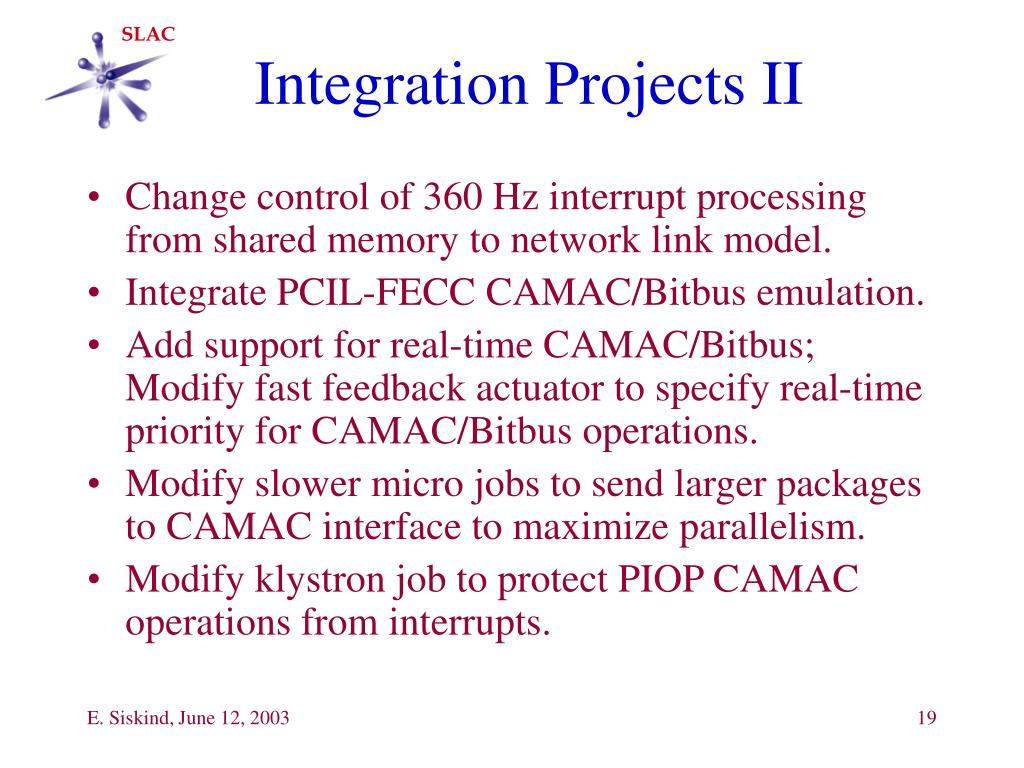 Integration Projects II