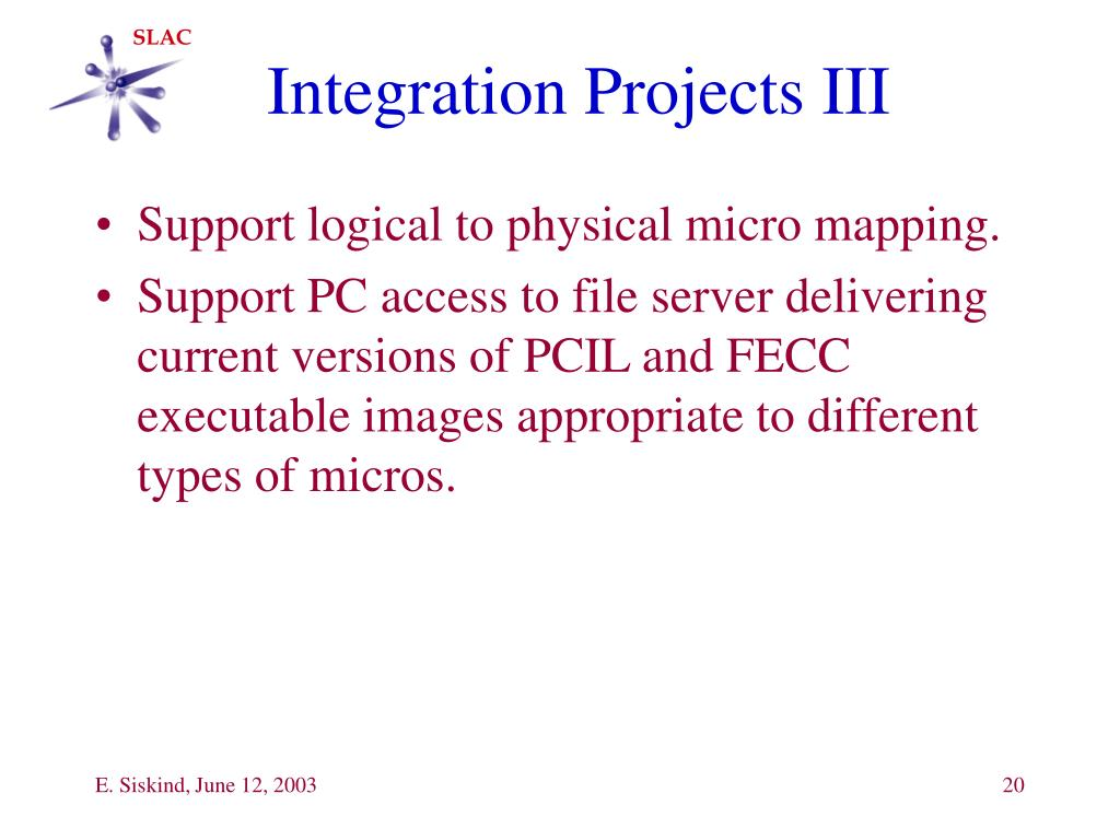 Integration Projects III