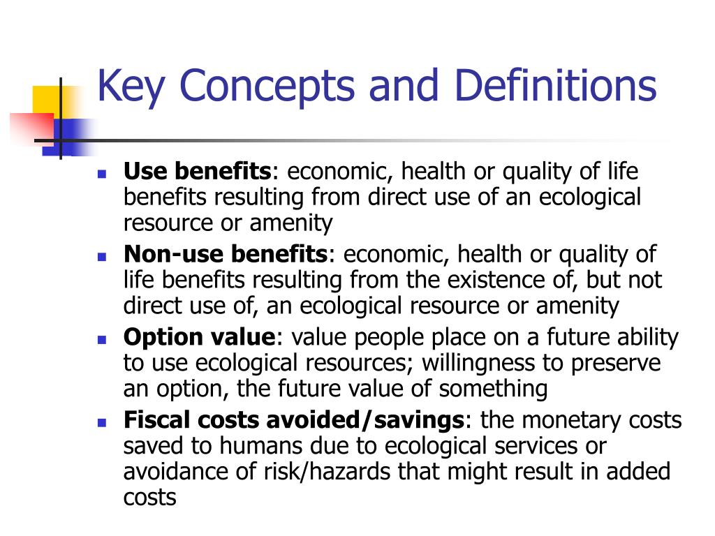 Key Concepts and Definitions