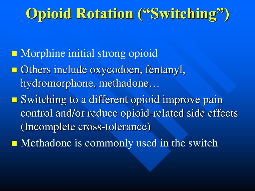 """Opioid Rotation (""""Switching"""")"""