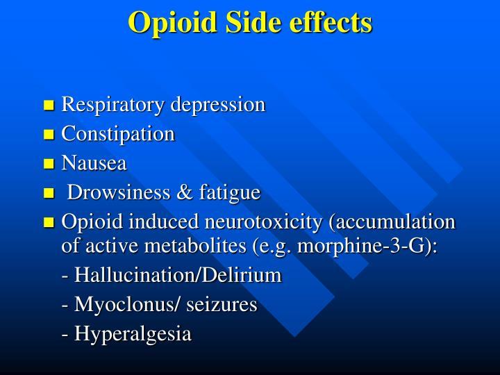 Opioid side effects