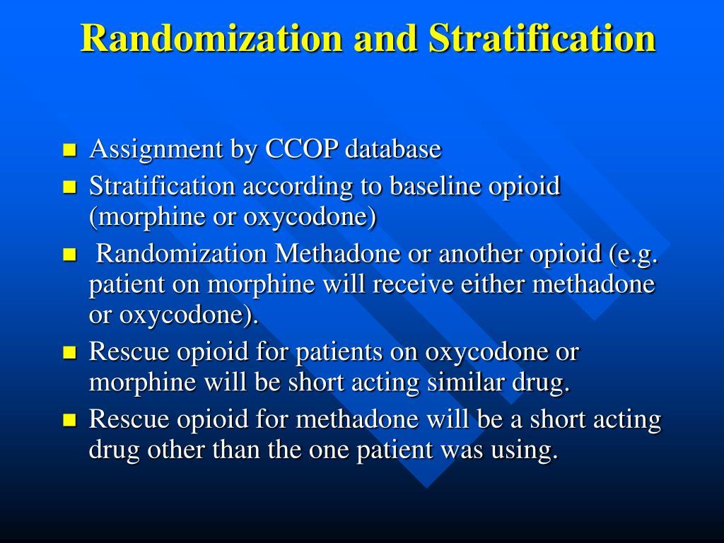 Randomization and Stratification