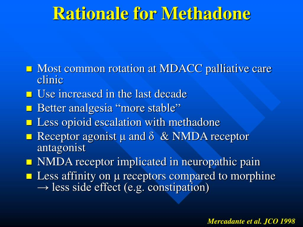 Rationale for Methadone