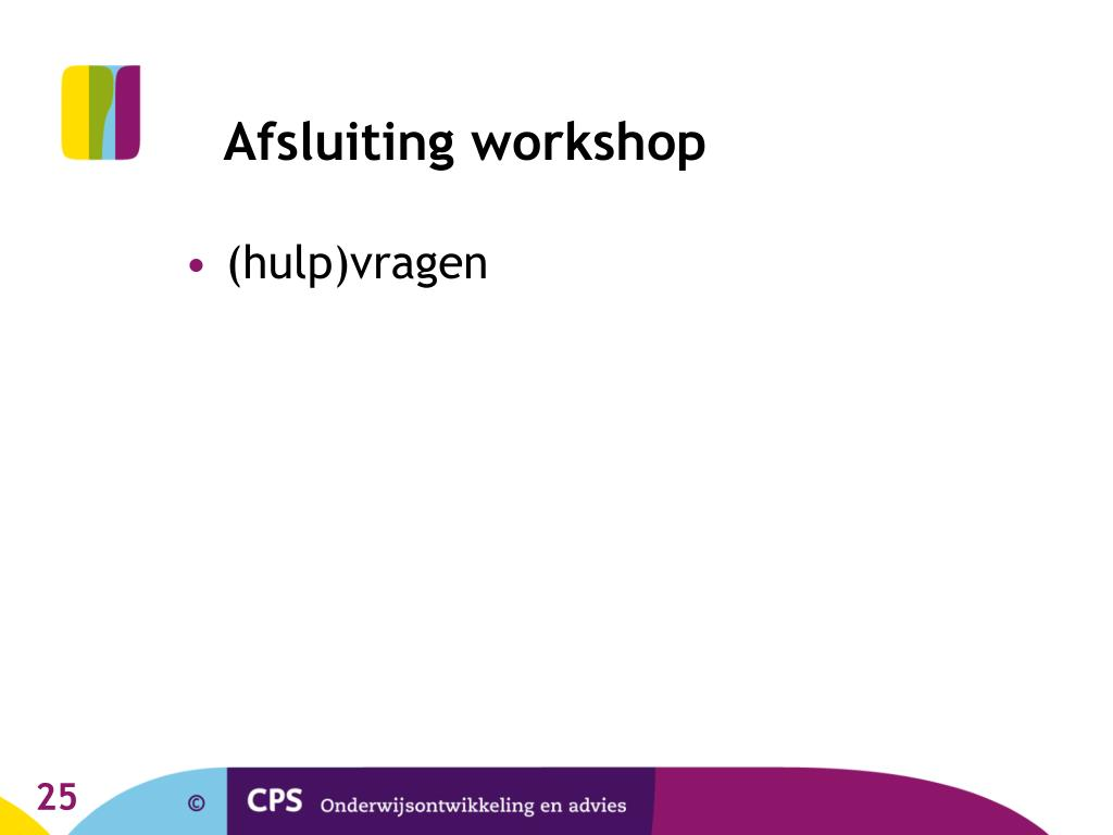 Afsluiting workshop