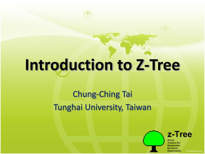 introduction to z tree n.