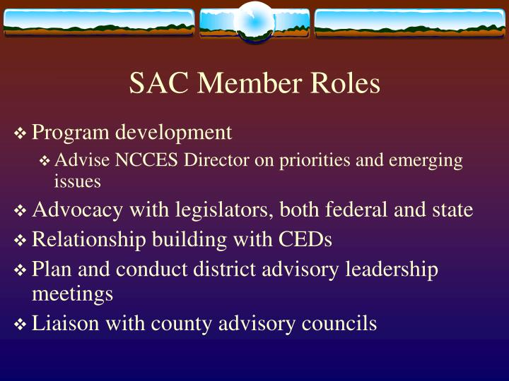 SAC Member Roles