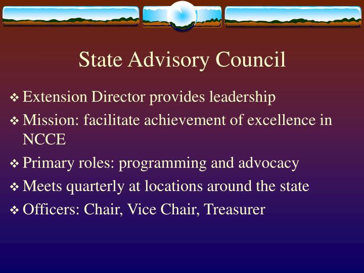 State advisory council