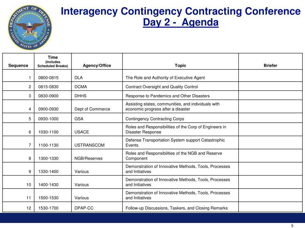Interagency Contingency Contracting Conference
