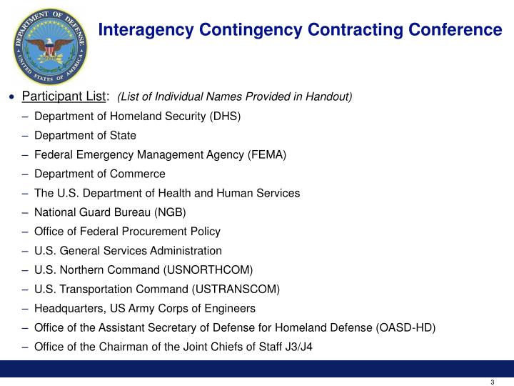 Interagency contingency contracting conference3