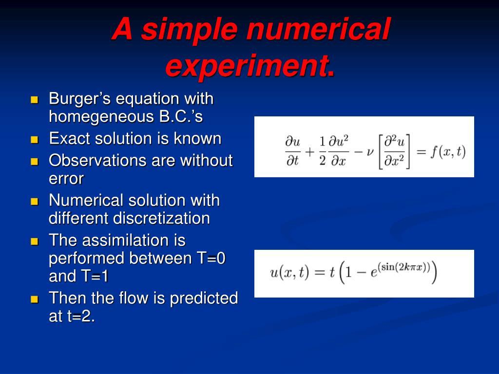 A simple numerical experiment