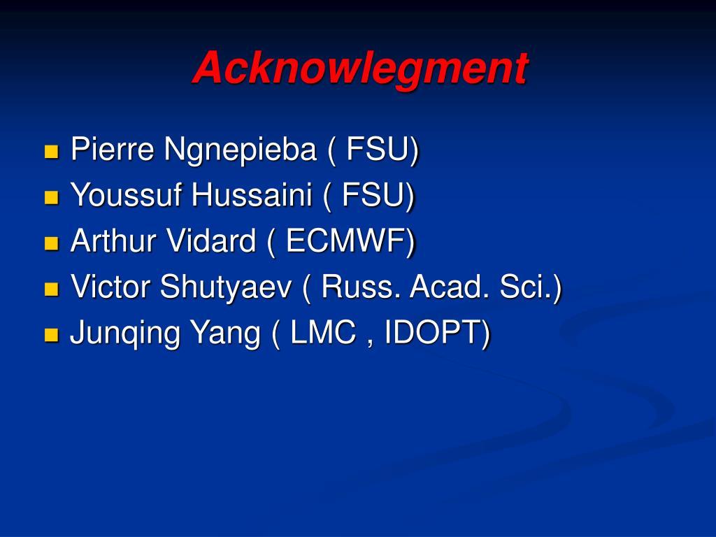 Acknowlegment