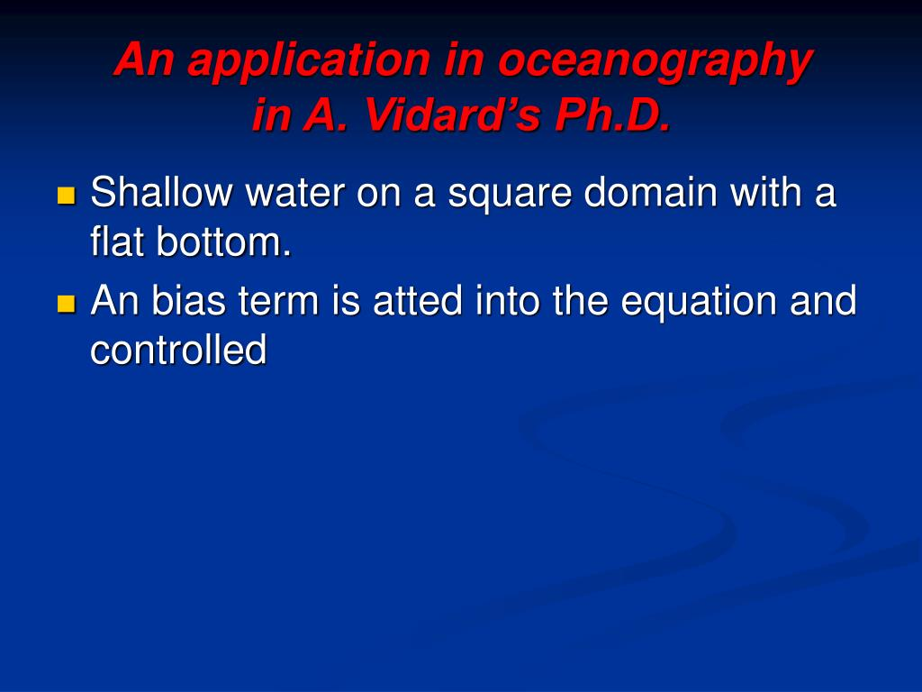 An application in oceanography