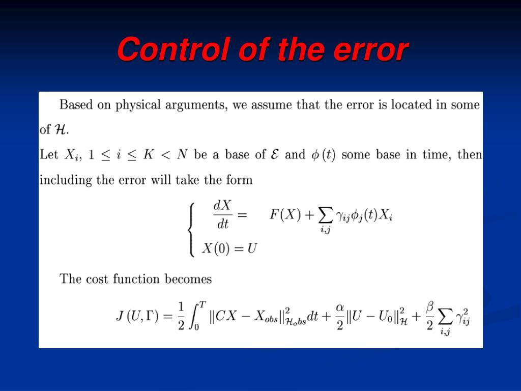Control of the error