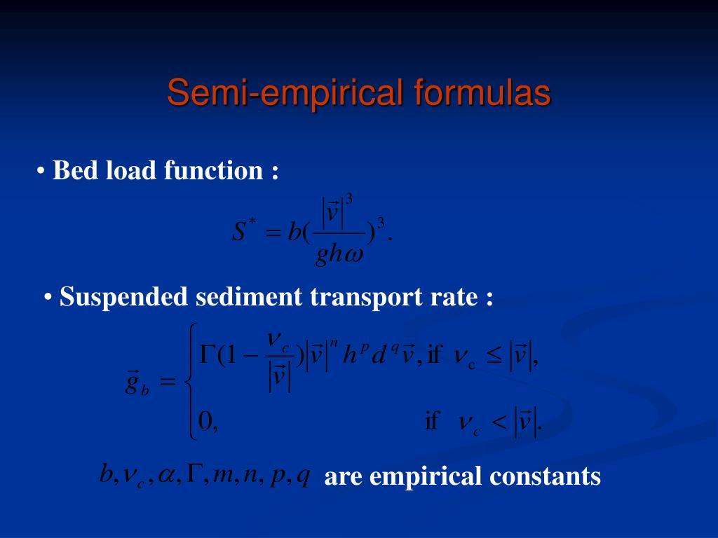 Semi-empirical formulas