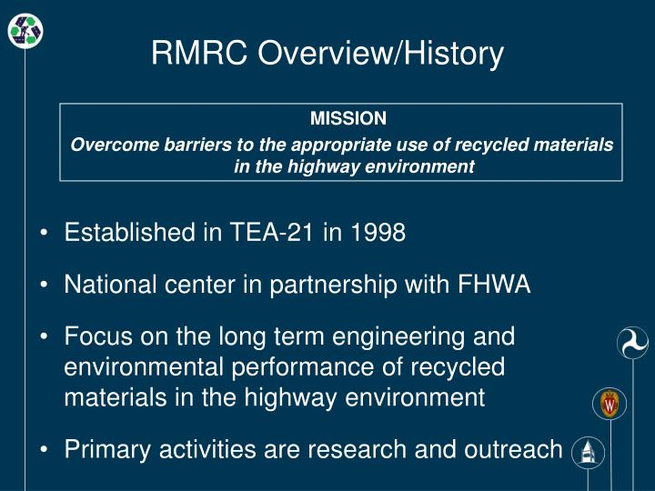 Rmrc overview history