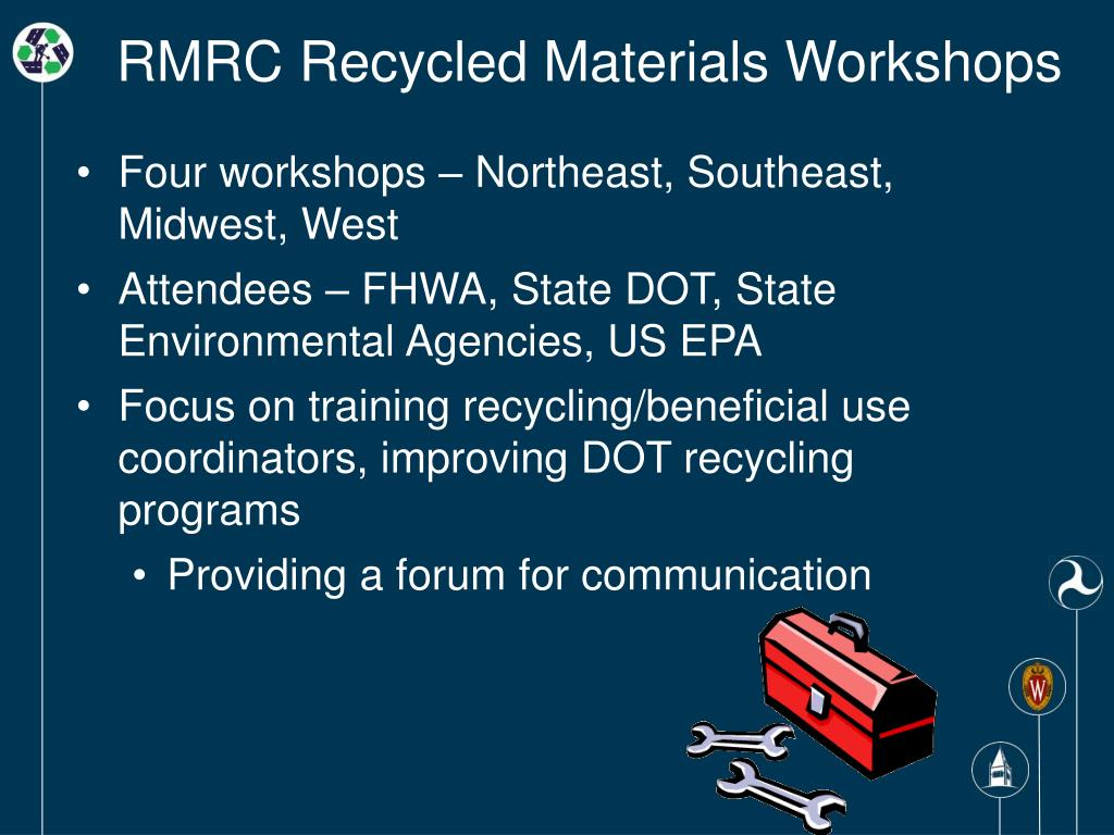 RMRC Recycled Materials Workshops