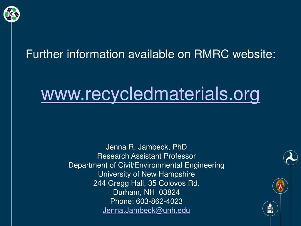 Further information available on RMRC website: