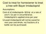 cost to treat for homeowner to treat a tree with bayer imidacloprid