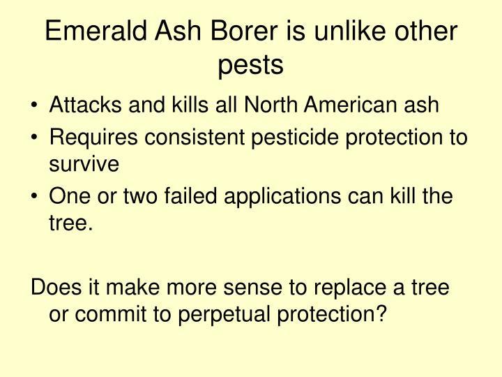Emerald ash borer is unlike other pests