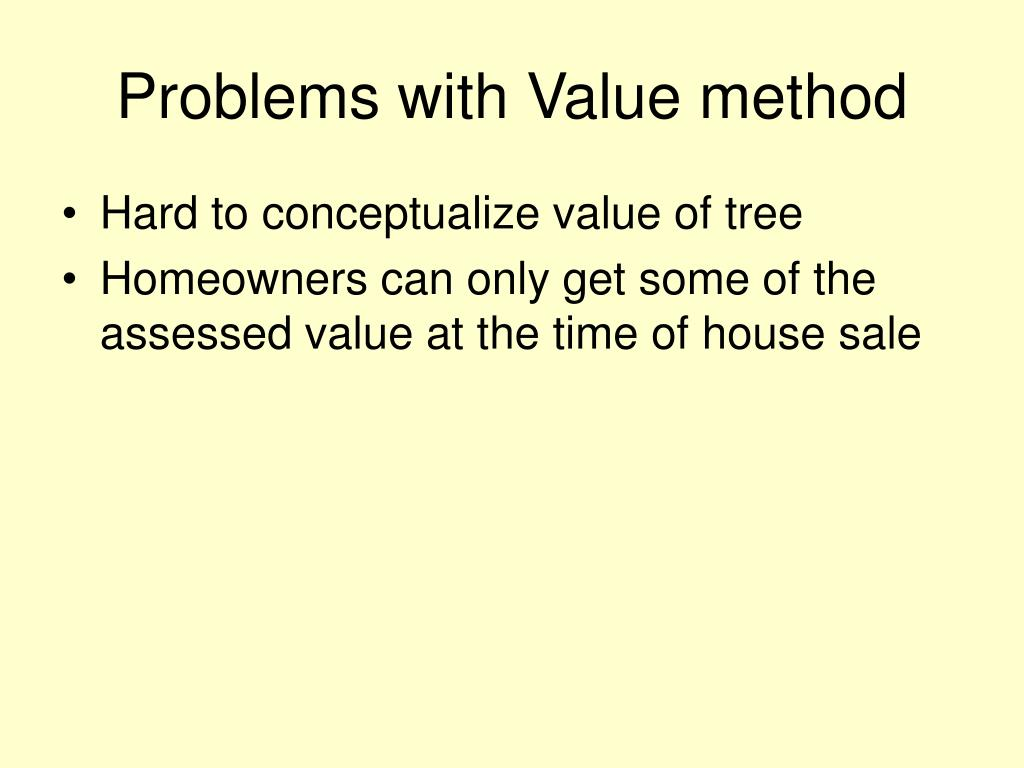 Problems with Value method