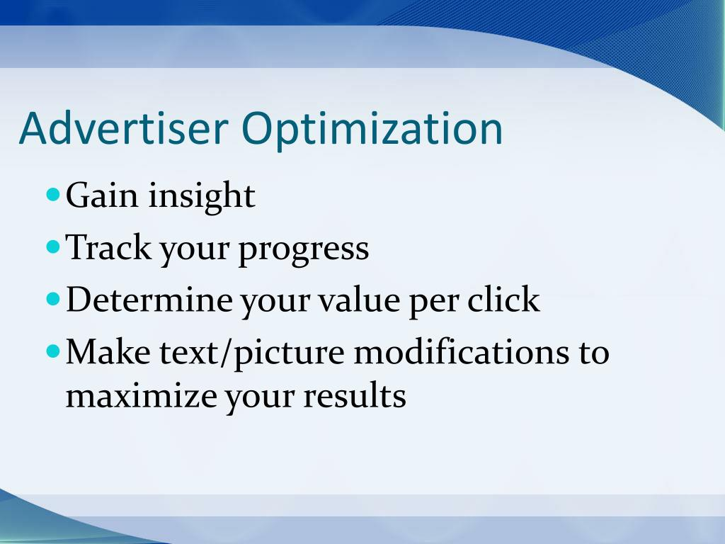 Advertiser Optimization