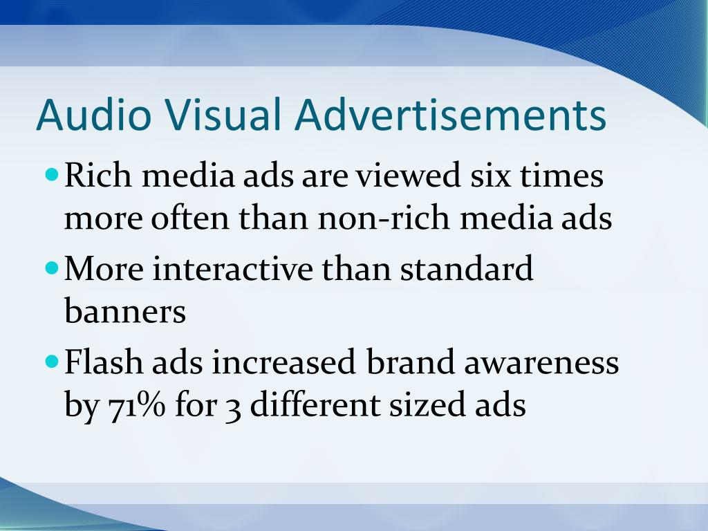 Audio Visual Advertisements