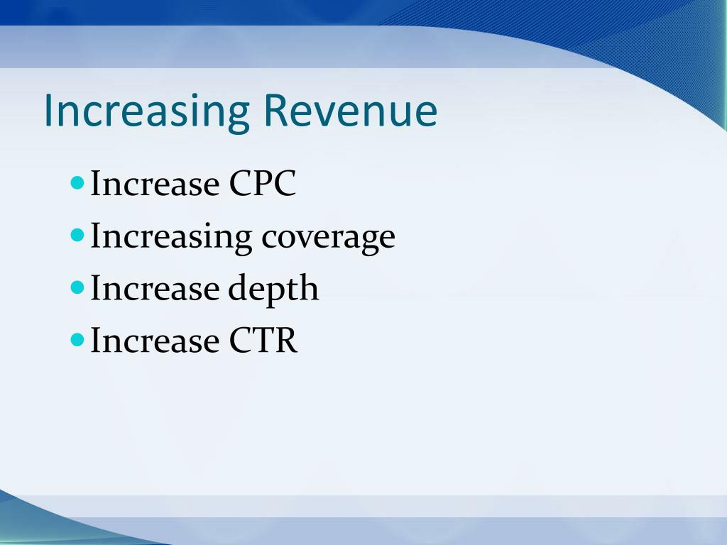 Increasing Revenue
