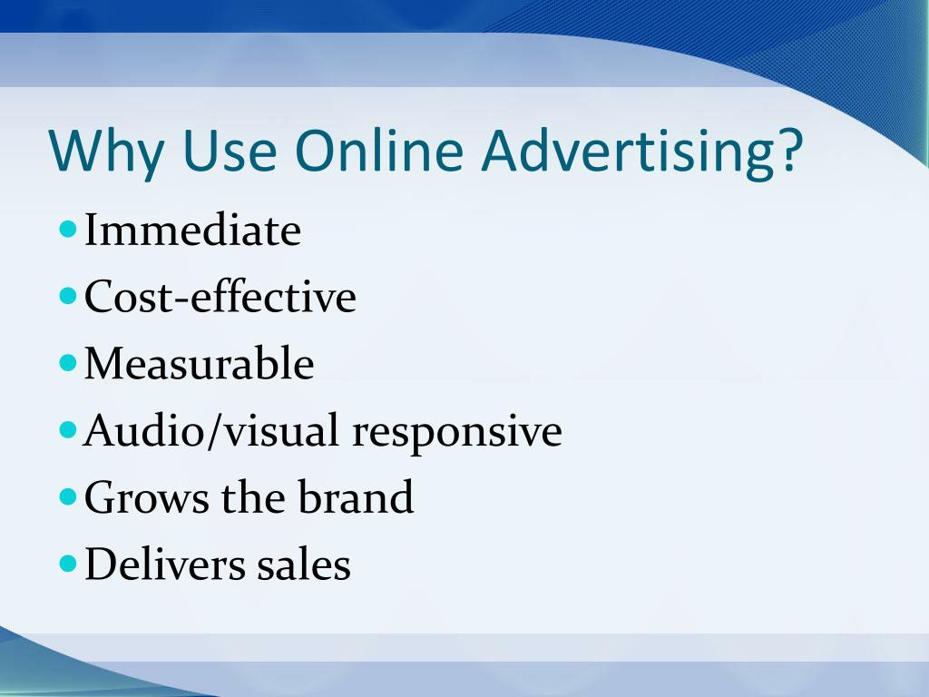 Why Use Online Advertising?