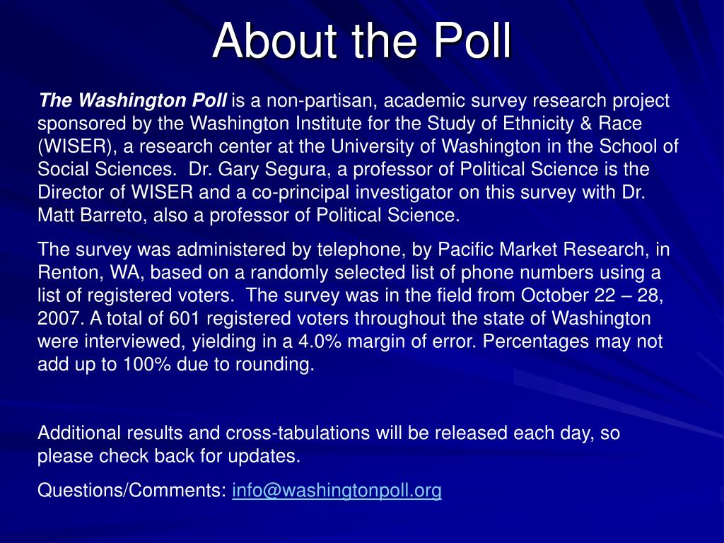 About the Poll