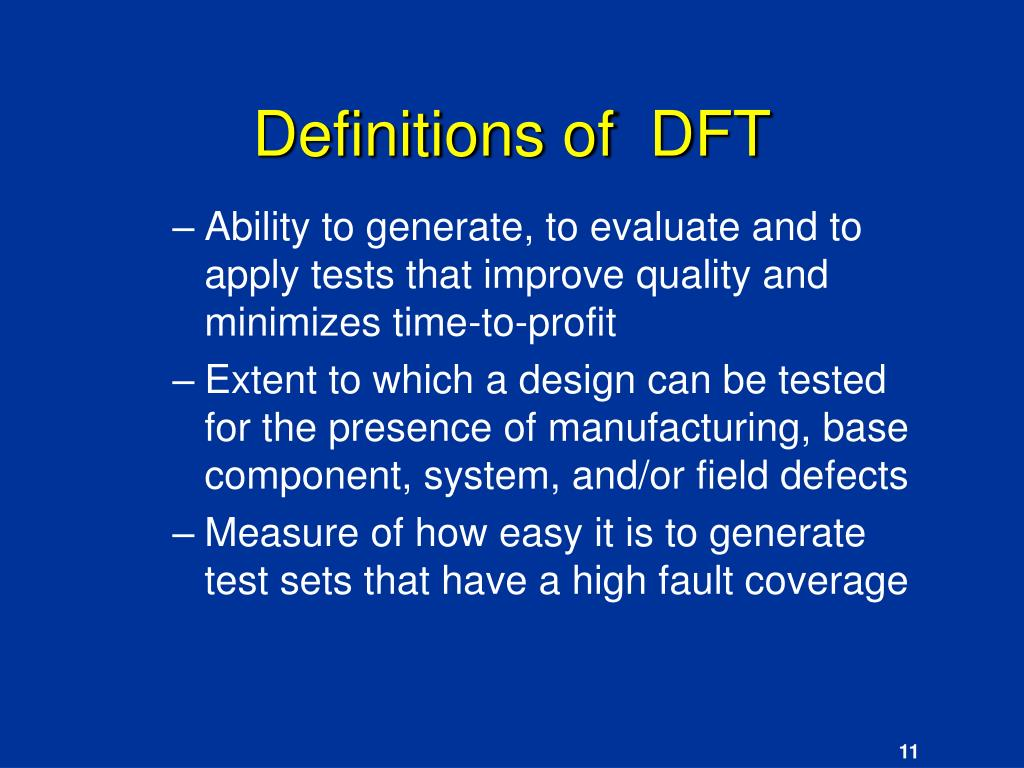 Definitions of  DFT
