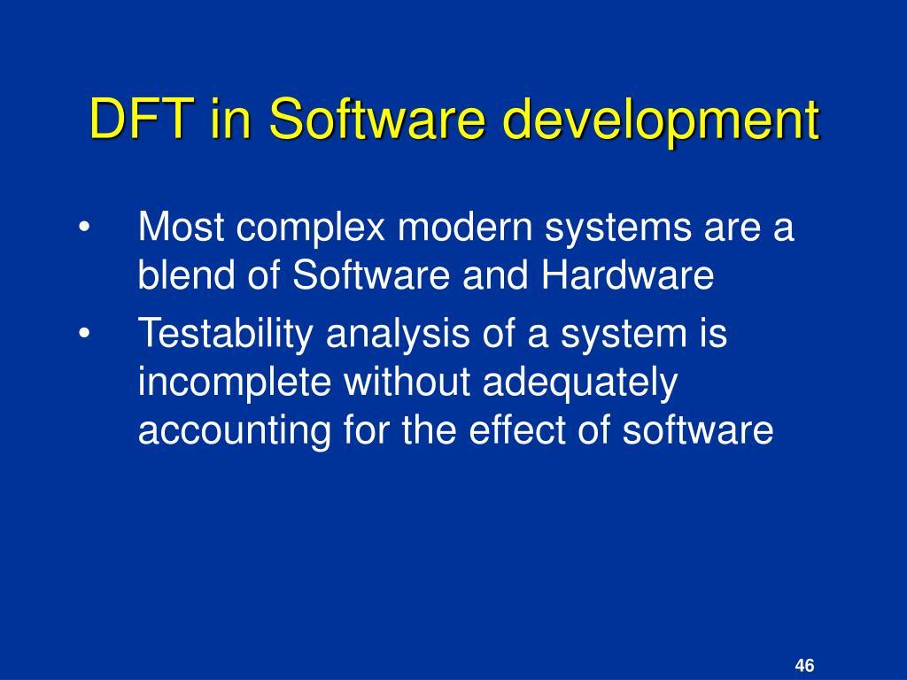 DFT in Software development