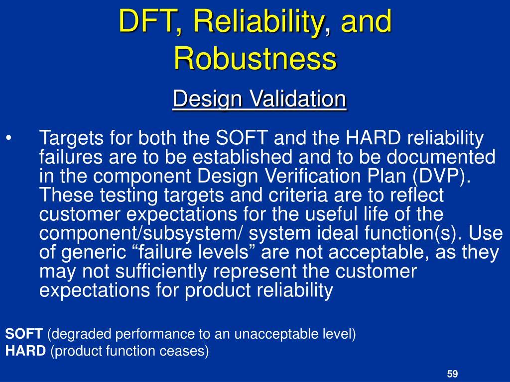 DFT, Reliability