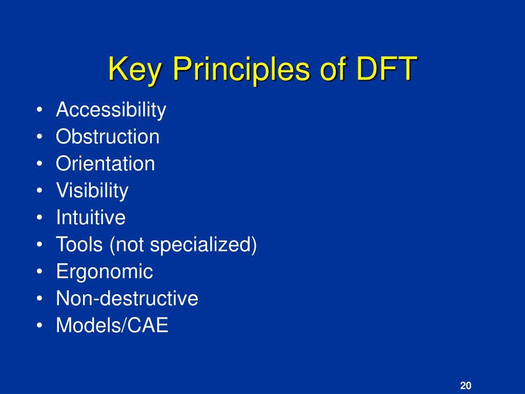 Key Principles of DFT
