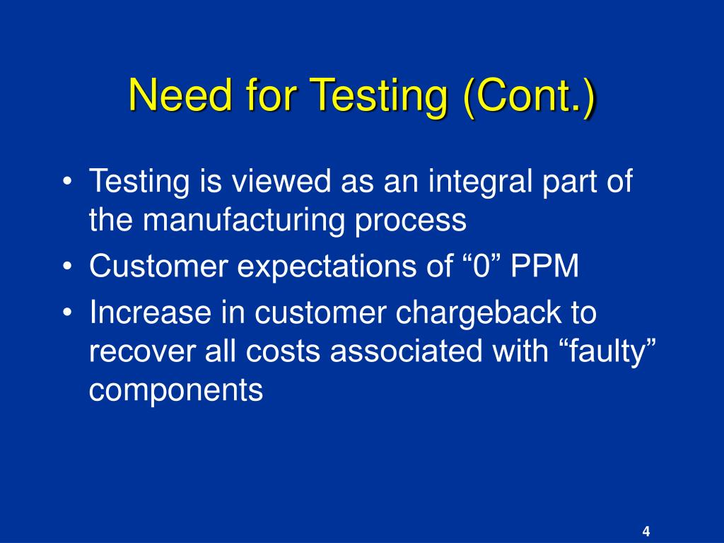 Need for Testing (Cont.)