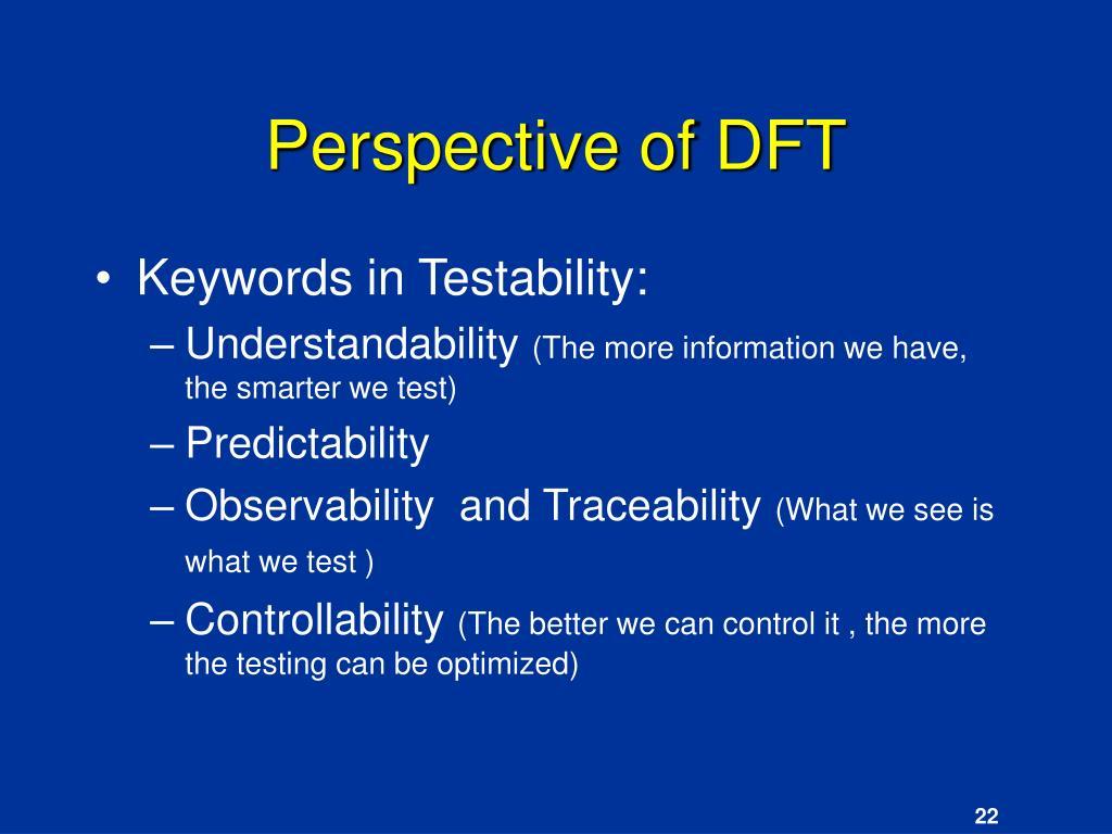 Perspective of DFT